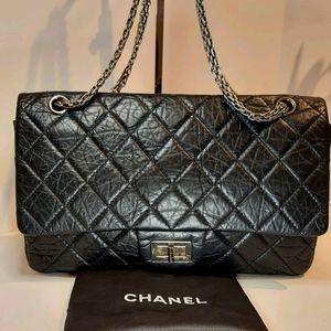 Chanel Reissue 277 Flap Black Leather Bag